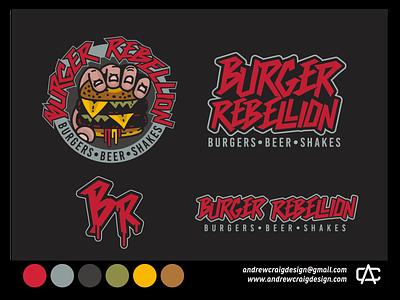 Burger Rebellion Brand Development design brand art typography logo design illustration icon vector graphic design logo