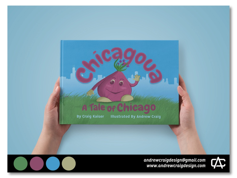 """""""Chicagoua: A Tale of Chicago"""" Book design typography layout design book layout childrens book character design art illustration graphic design"""