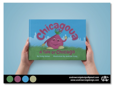 """Chicagoua: A Tale of Chicago"" Book design typography layout design book layout childrens book character design art illustration graphic design"