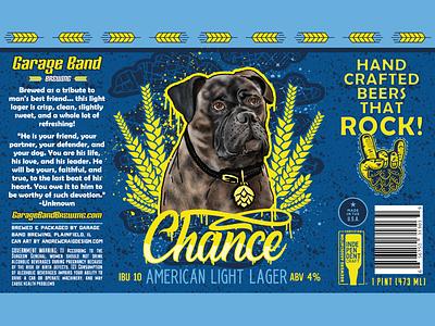 Chance American Light Lager brand illustration design art beer can logo branding vector graphic design