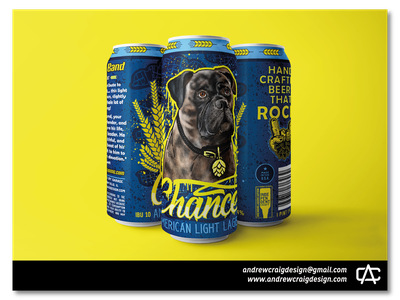 Chance American Light Lager brand illustration design art beer can logo branding vector graphic design