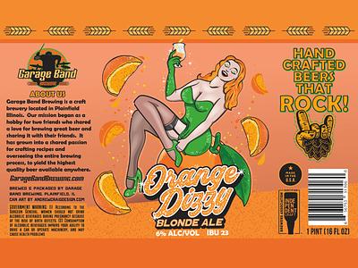 Orange Dizzy Blonde Ale logo design branding illustration vector graphic design