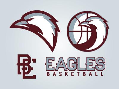 Eagles Basketball Branding icon logo branding