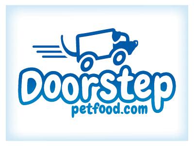 Doorstep Pet Food graphic design pet supplies icon logo branding typography illustration