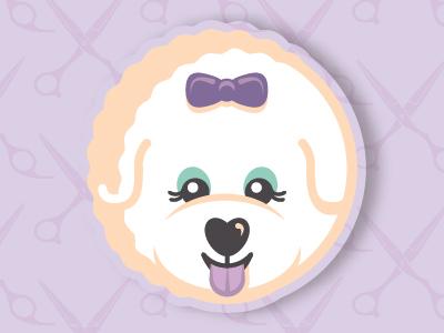 Suburban Pooch pet grooming icon illustration logo design branding