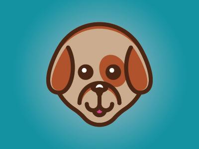 Puppy Icon branding brand pets puppy icon graphic design logo design logo illustration