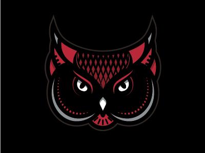 Red Owl branding brand animals owl icon graphic design logo design logo illustration
