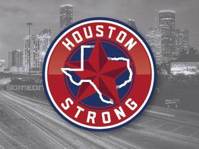 Houston Strong Logo icon badge texas branding sports logo logo design logo graphic design harvey relief houston strong
