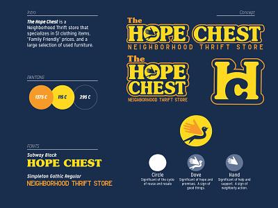 Hope Chest Rebrand brand art logo design brand typography logo design branding vector logo graphic design