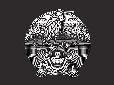 Everglades National Park T-Shirt Design nps national park alligator heron shirt shirtdesign t-shirt everglades