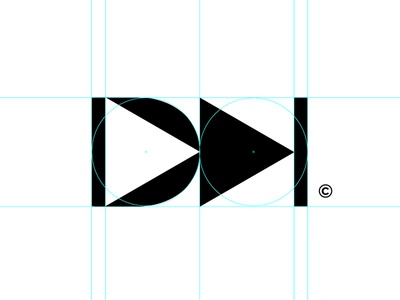 Audio/Video Mark logo logomark d video audio