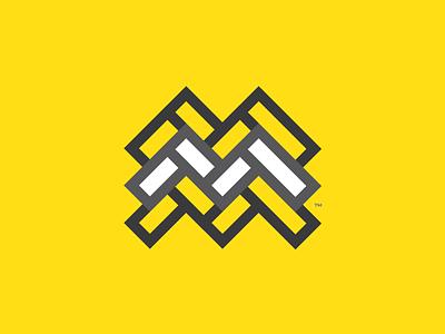 """""""Mel's Tile"""" logo logomark grout tile herringbone"""