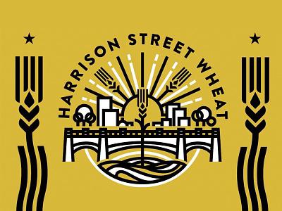Harrison Street Wheat minimal street hefeweizen brew brewery beer