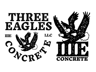 Three Eagles Concrete LLC logomark classic mark llc concrete eagles