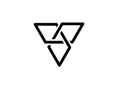 Tripple V infinity design v illustrator logo monogram