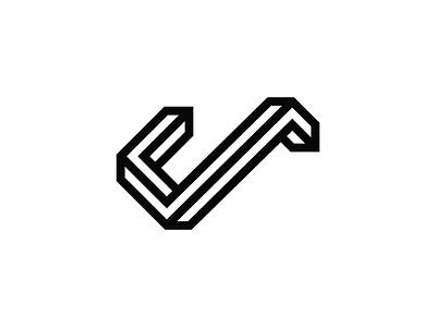 Letter J illustration icon logo type j escher