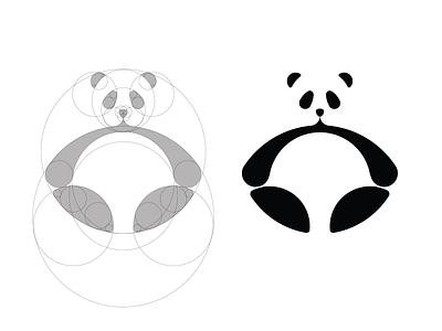 Panda grid circle whitespace logo icon panda grid