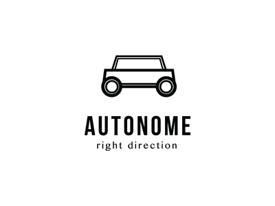 Autonome logo illusion car icon logo