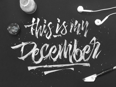 This is my December linkin-park quote ink white raw calligraphy lettering