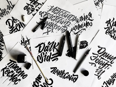 Darkside   Sketches progress wip sketches typo wear drops outfit darkside calligraphy lettering