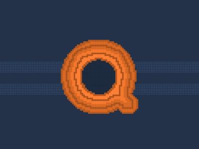 36 Days of Type Pixel Q
