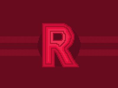 36 Days of Type Pixel R