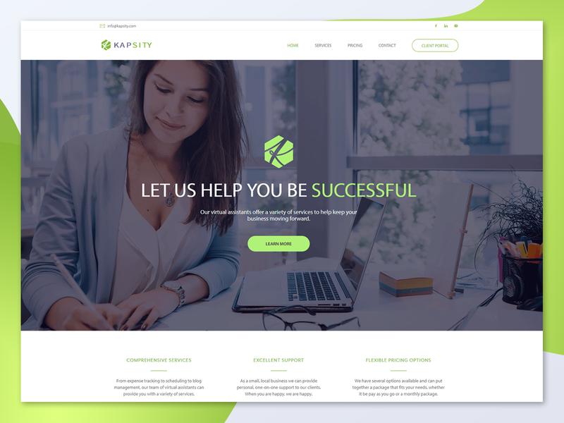 Kapsity Website (Updated) logo design responsive design web development web design