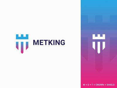 Metking Logo modern company corporate logo maker best logo designer shield logo crown logo king logo creative clean logotype mark art identity icon branding vector illustration design logo