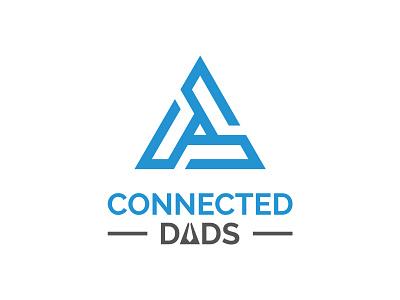 Connected Dads Logo dads logo fathers logo triangle logo professional logo web logo app logo forum logo business logo minimalist logo modern logo company creative mark logotype identity branding vector illustration logo design