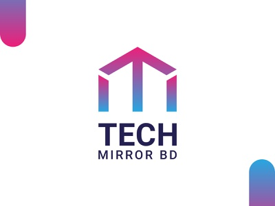 Tech Mirror BD - Logo Exploration tm letter logo minimalist modern logo tech mirror bd technology logo tech logo app web youtube logo business logo mark creative logotype icon identity branding vector illustration logo design