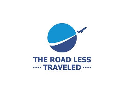 The Road Less Traveled Logo vacation web app explore adventure logo tour logo travel logo minimal logo company logo business logo mark creative logotype icon identity branding vector illustration logo design
