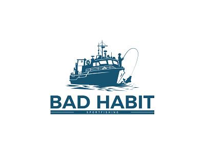 Fishing Logo logotype illustration creative clean logo mark fish sport-fishing fishing identity branding