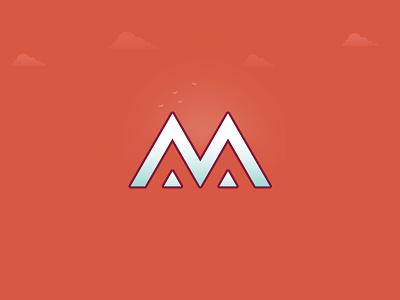 Mountain View exploration icon logodesigner art design branding identity illustration logotype letter mountain logo
