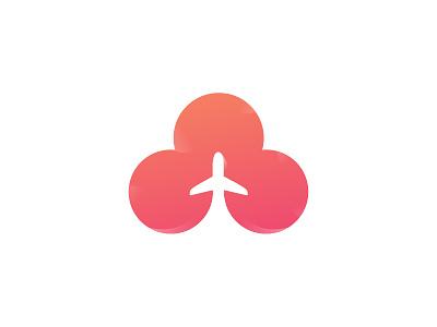 The Plane illustration branding identity type vector design cloud logotype art icon logo plane