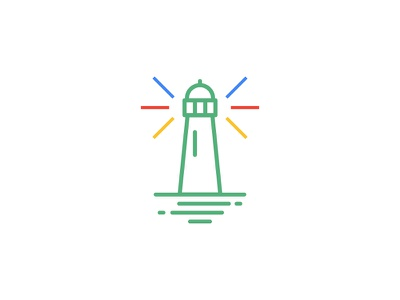 Lighthouse creative google water illustration design sea color building lighthouse mark icon logo