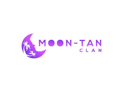 Moon-Tan Clan vector illustration design island clan moon salon beauty cosmetics identity branding logo