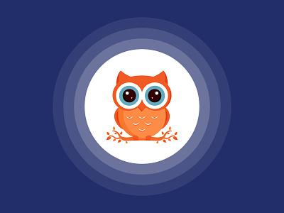 An Owl vector nature eye mark figure illustration animal owl night bird design logo