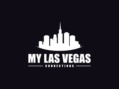 My Las Vegas Logo Design illustration vector identity house design building estate real vegas las branding logo