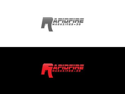 Rapidfire Logo professional new art logotype magazine company clean illustration vector industry identity type gun typography mark creative icon design branding logo