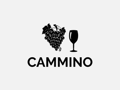 Cammino Logo grape youthful professional company type bussines high quality modern wine logotype art identity mark icon vector design branding illustraion logo