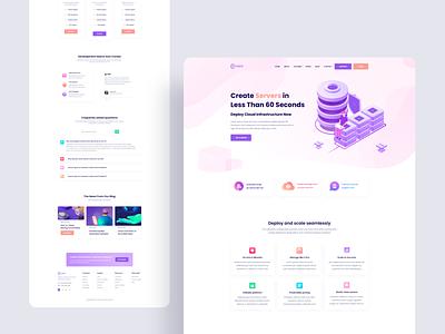 Conzex cloud cloud server landing typography clean illustration interface web ux design ui