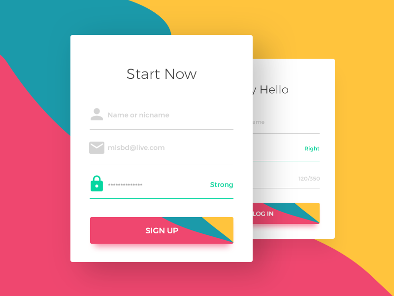 Web Sign Up form by Mustafa🏀 on Dribbble