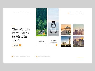 Tour De UI Interaction worlds visit place feedback interface ui web 2018 tour