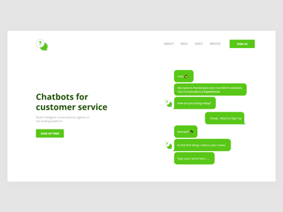 ChatBot Web dashboard web twitter facebook bot redesign chatbot