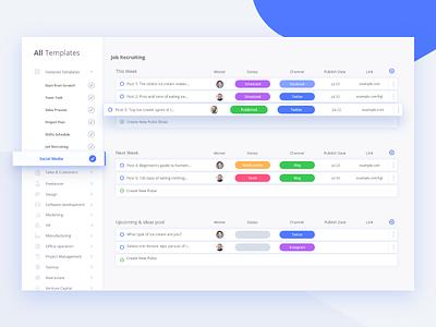 Taskdone Project management Services Dashboard Concept webui illustration design ux project management dashboard color blue 2018