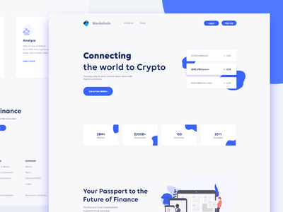 Blockchain UI Redesign 2018 interface ui crypto currency branding flat design typography blockchain cryptocurrency blockchain