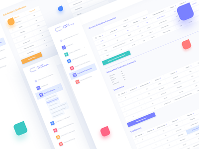 Nisto Certification Dashboard UI color clean portfolio typography webapp interface web trendy 2019 design ux ui dashboad