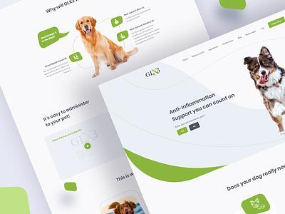 GLX3 Web Redesign Concept webui medicine dogs dog supplements supplements dog branding landing color portfolio clean web interface ux design ui