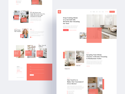 ConCleaner - Cleaner Service Template webdesign template trendy 2019 trend landingpage flat color typography service cleaner web clean interface ux design ui