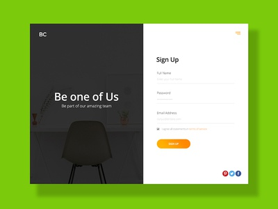Daily UI - Sign Up 001
